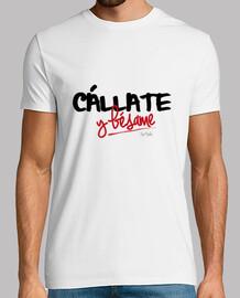 Camiseta para chicos Cállate y bésame