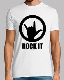Camiseta para chicos Rock It negro