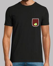 Camiseta para guitarrista con falso bolsillo y diseño en la espalda