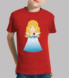 Camiseta para niñ@ Kokeshi Aurora (La Bella durmiente)