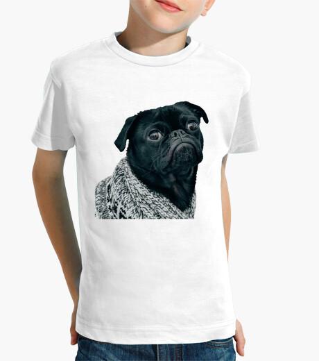 Ropa infantil Camiseta para niño con diseño de Perro Pug Carlino con jersey