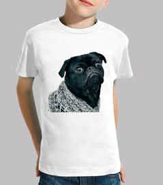 Camiseta para niño con diseño de Perro Pug Carlino con jersey