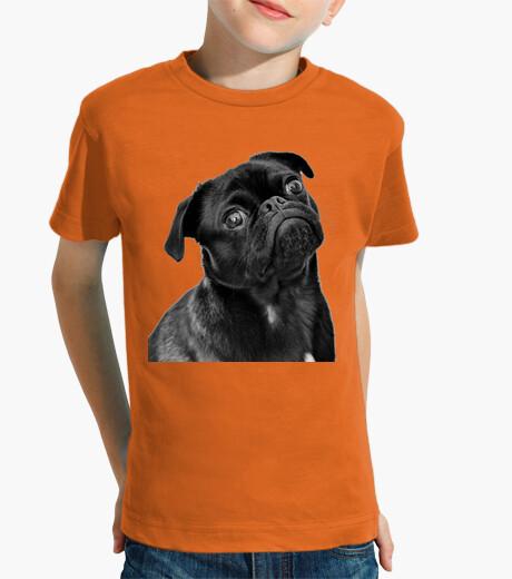 Ropa infantil Camiseta para niño diseño Perro Carlino Pug