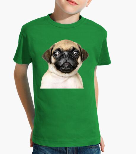Ropa infantil Camiseta para niño diseño Perro Pug Carlino bebe