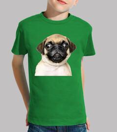 Camiseta para niño diseño Perro Pug Carlino bebe
