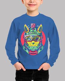 Camiseta para niño o niña Battle gato