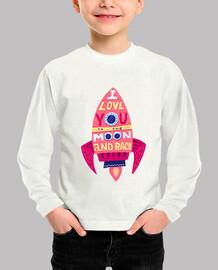 Camiseta para niño o niña Cohete to the moon