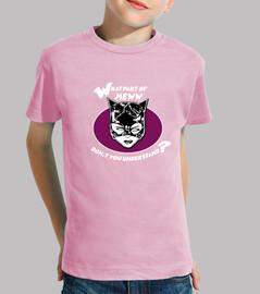 Camiseta para niño o niña mujer gato