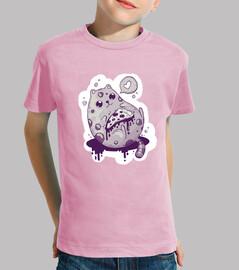Camiseta para niño o niña Pizza cat