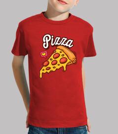 Camiseta para niño o niña Pizza love