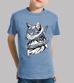 Camiseta para niño o niña Robocat