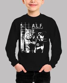 camiseta para niños - alf animal liberation front