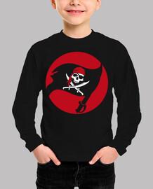 camiseta para niños - bandera de pirata jolly roger