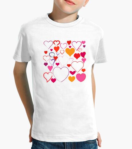 Ropa infantil camiseta para niños corazones