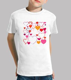 camiseta para niños corazones