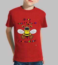 Camiseta para niños de abeja