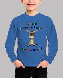 Camiseta para niños de burro