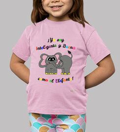 Camiseta para niños de elefante
