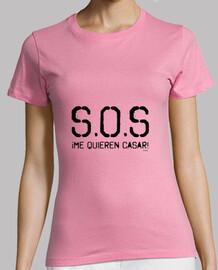 Camiseta para novias S.O.S ¡Me quieren casar!