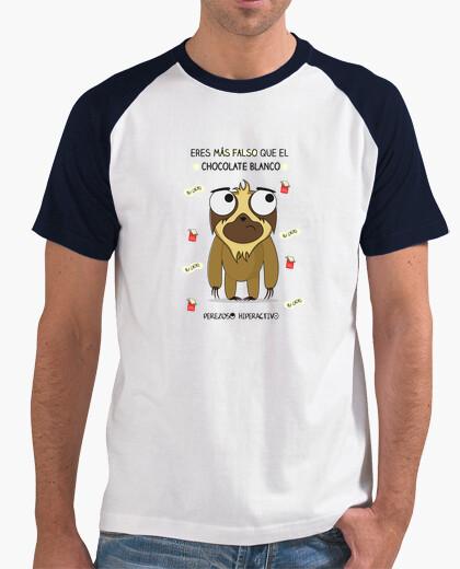 Camiseta para perezosos que saben que el chocolate blanco, no es chocolate