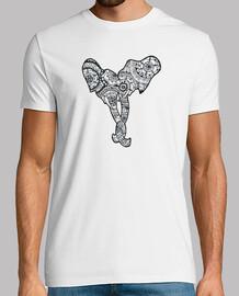 Camiseta pareja elefantes, Hombre