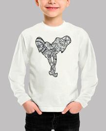Camiseta pareja elefantes, Niñe
