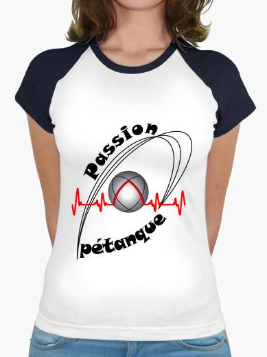 Camiseta pasion petanca mujer fc electrocardiograma