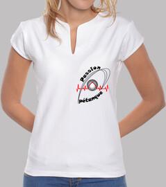 camiseta pasion petanca mujer mao logo fc electrocardiograma
