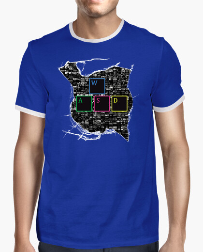 Camiseta PC Master Race WASD GALERIA JUEGOS PC