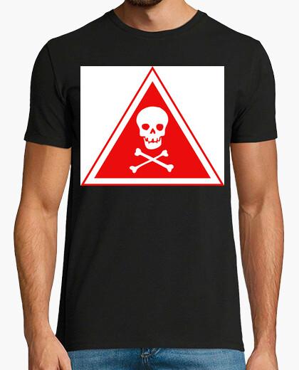 Camiseta Peligro de muerte Calavera Terror...