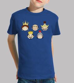 camiseta peques caps farandula