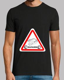 camiseta petanca diversión peligro hombre