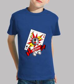 camiseta petanca puntero medio niño tirador