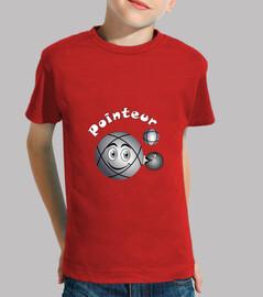camiseta petanca puntero niño bola fs existe en tirador