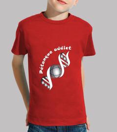 camiseta petanque adicto niño fondo oscuro