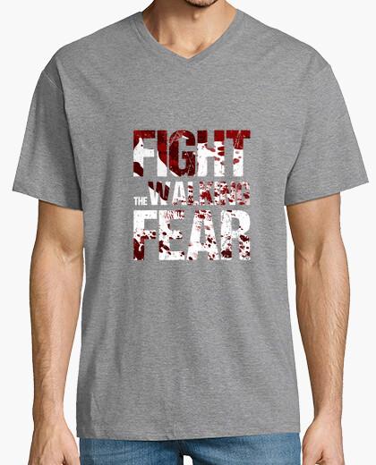 Camiseta pico cerrado hombre Fight the Walking Fear