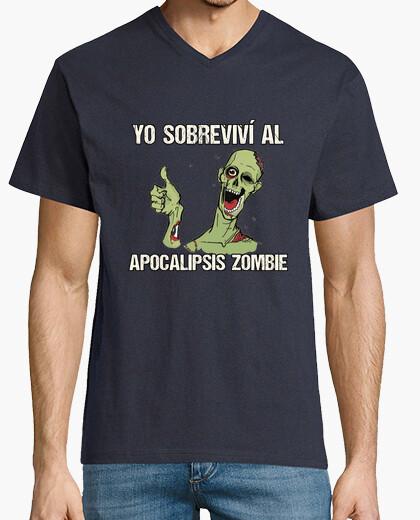 Camiseta pico hombre Superviviente