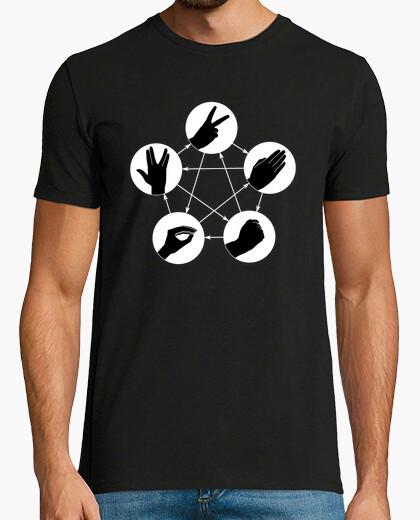 Camiseta piedra papel tijeras lagarto spock