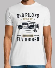 Camiseta Pilotos Aviación Retro Vintage