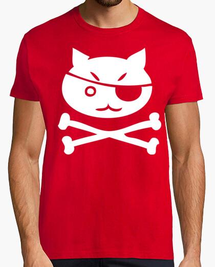 Camiseta Pirate kitty Calavera Terror humor