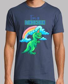 Camiseta Pixel Art Divertida Dino Retro 80s 90s Dinosaurio Arco Iris Unicornio