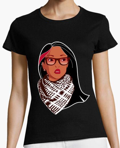 Camiseta Pocahontas Rebelde - Gafas Palestino Mechas Piercing