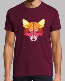 camiseta polygonal farbiger fuchs
