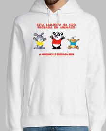 Camiseta probada en animales