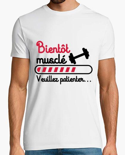 Camiseta pronto musculoso culturismo