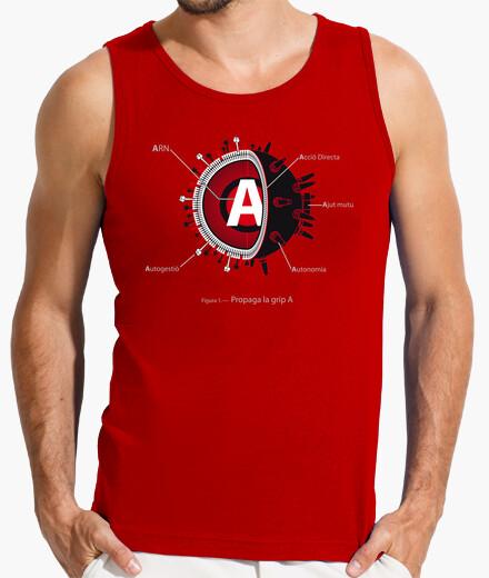 Camiseta Propaga la GRIP A - Sin mangas, roja.