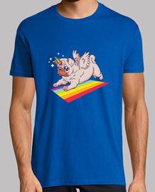 Camiseta Pug unicornio