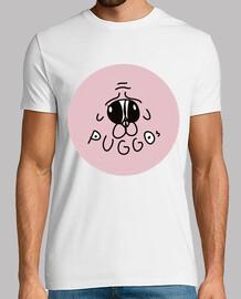 Camiseta Puggos Logo blanca