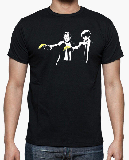 Camiseta Pulp Fiction banksy friki cine