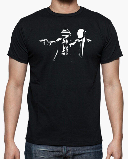Camiseta Pulp Fiction Daft Punk friki cine
